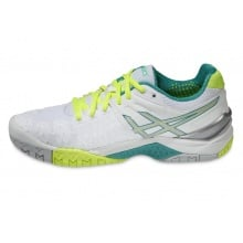 Asics Gel Resolution 6 2015 weiss/mint Tennisschuhe Damen