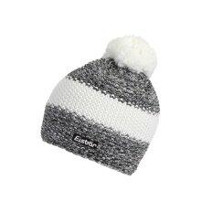 Eisbär Mütze (Pompon) Styler grau/weiss Herren