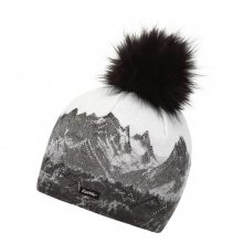 Eisbär Mütze (Pompon) Draw Lux Crystal grau/weiss Damen
