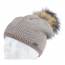 Eisbär Mütze (Pompon) Sanja Lux braun/weiss Damen