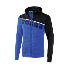 Erima Trainingsjacke 5-C 2019 blau/schwarz/weiss Boys