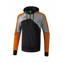 Erima Kapuzenjacke Premium One 2.0 schwarz/grau/orange Boys