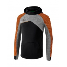 Erima Hoodie Premium One 2.0 schwarz/grau/orange Boys