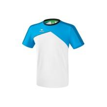 Erima Tshirt Premium One 2.0 2018 weiss/hellblau/schwarz Boys