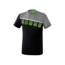 Erima Tshirt 5-C 2019 schwarz/grau/weiss Herren