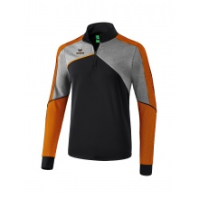 Erima Langarmschirt 1/2 Zip Premium One 2.0 2018 schwarz/grau/orange Boys