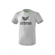 Erima Tshirt Essential 2019 hellgrau/schwarz Herren