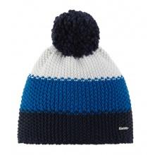 Eisbär Mütze (Bommel) Star Pompon weiss/blau/schwarz Kinder