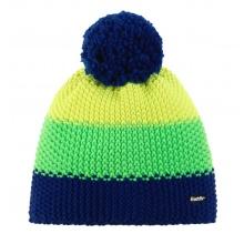 Eisbär Mütze (Bommel) Star Pompon navy/gelb/grün Kinder