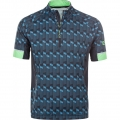 Endurance Fahrrad Tshirt Jens mit 3/4 Reissverschluss blau Herren