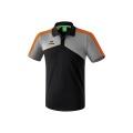 Erima Polo Premium One 2.0 2018 schwarz/grau melange/orange Herren