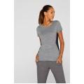 Esprit Shirt Stretch Color Block grau Damen