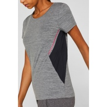 Esprit Shirt Stretch Color Block grau Damen