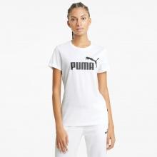 Puma Freizeit Shirt Essentials Logo - 100% Baumwolle - weiss Damen