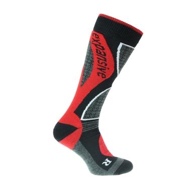Expansive Snowboardsocke schwarz/rot 1er