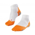 Falke Laufsocke RU5 Lightweight Short weiss/orange Herren 1er