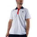 Fila Polo Stripes weiss/navy/rot Herren