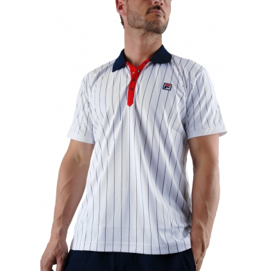 Fila Polo Stripes weiss weiss/navy/rot Herren