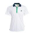 Fila Polo Stripes weiss weiss/navy/grün Herren