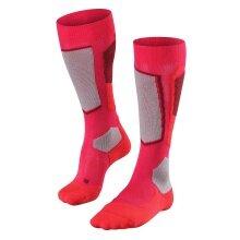 Falke Skisocke SK2 Wool pink/grau/rot 1er Damen