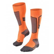 Falke Skisocke SK4 Wool orange/grau/schwarz 1er Damen