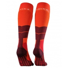 Falke Skisocke ST4 Wool orange/rot 1er Damen