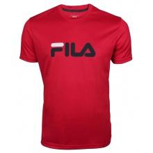 Fila Tennis-Tshirt Logo rot/navy Herren