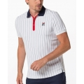 Fila Tennis-Polo Stripes weiss/navy/rot Herren
