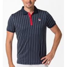 Fila Tennis-Polo Stripes navy/weiss/rot Herren