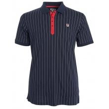 Fila Tennis-Polo Stripes (100% Baumwolle) peacoatblau Herren
