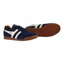 Gola Harrier Suede navy/ecru/orange Sneaker Herren