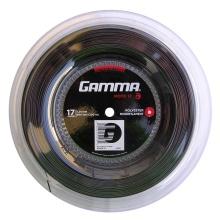 Gamma Tennissaite Moto (Haltbarkeit+Spin) schwarz 200m Rolle