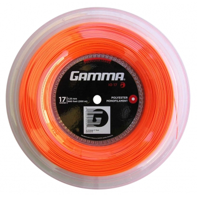 Gamma iO orange Tennissaite 200 Meter Rolle