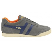 Gola Harrier Suede grau/navy/orange Sneaker Herren