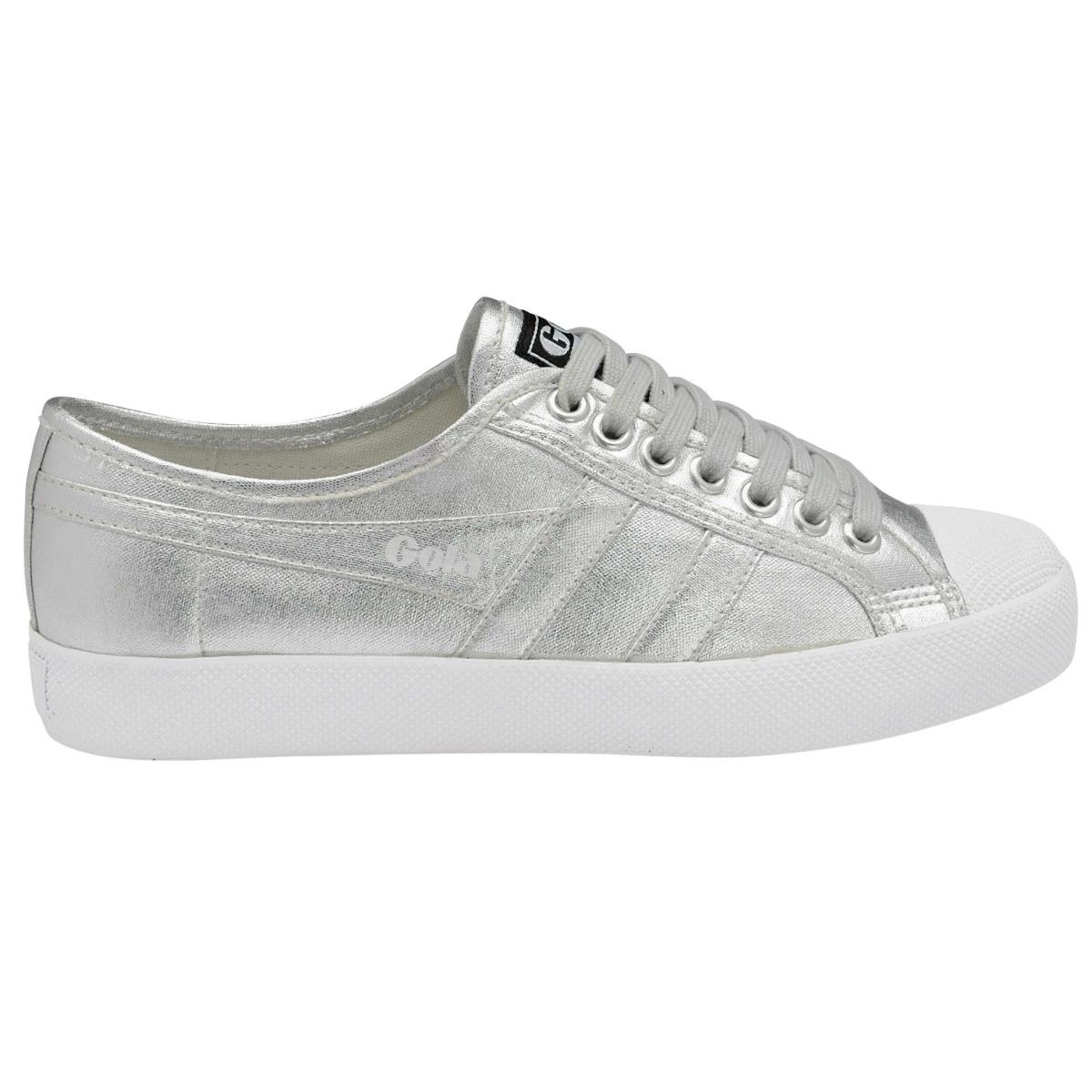 Coaster Online Silber Gola Damen Bestellen Sneaker Metallic Canvas TcJF1lK