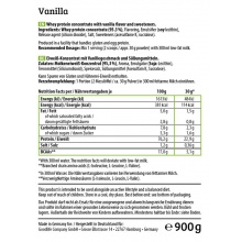 HEJ Natural Whey Protein Vanille 900g Dose