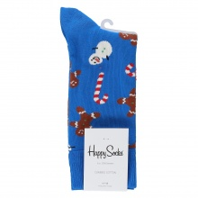 Happy Socks Tagessocke Crew Gingerbread & Snowman blau 1er