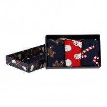 Happy Socks Tagessocke Crew Gingerbread Geschenkbox 3er