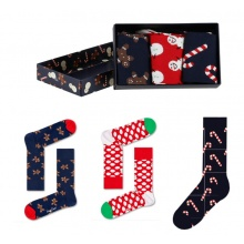Happy Socks Tagessocke Crew Gingerbread Geschenkbox 3er