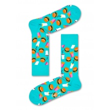 Happy Socks Tagessocke Crew Hamburger mint 1er