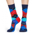 Happy Socks Tagessocke Argyle royalblau/rot 1er