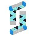 Happy Socks Tagessocke Argyle hellgrau/aqua/hellblau 1er