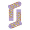 Happy Socks Tagessocke Crew Banane violett - 1 Paar