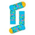 Happy Socks Tagessocke Crew Banane hellblau/gelb 1er