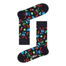 Happy Socks Tagessocke Crew Barbeque (BBQ) schwarz - 1 Paar