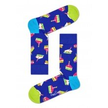 Happy Socks Tagessocke Crew Happy Birthday blau 1er
