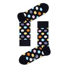 Happy Socks Tagessocke Crew Big Dot schwarz - 1 Paar