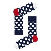 Happy Socks Tagessocke Crew Big Dot navy/weiss - 1 Paar