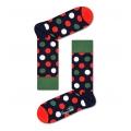 Happy Socks Tagessocke Crew Big Dot dunkelblau - 1 Paar
