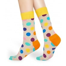 Happy Socks Tagessocke Crew Big Dot beige 1er
